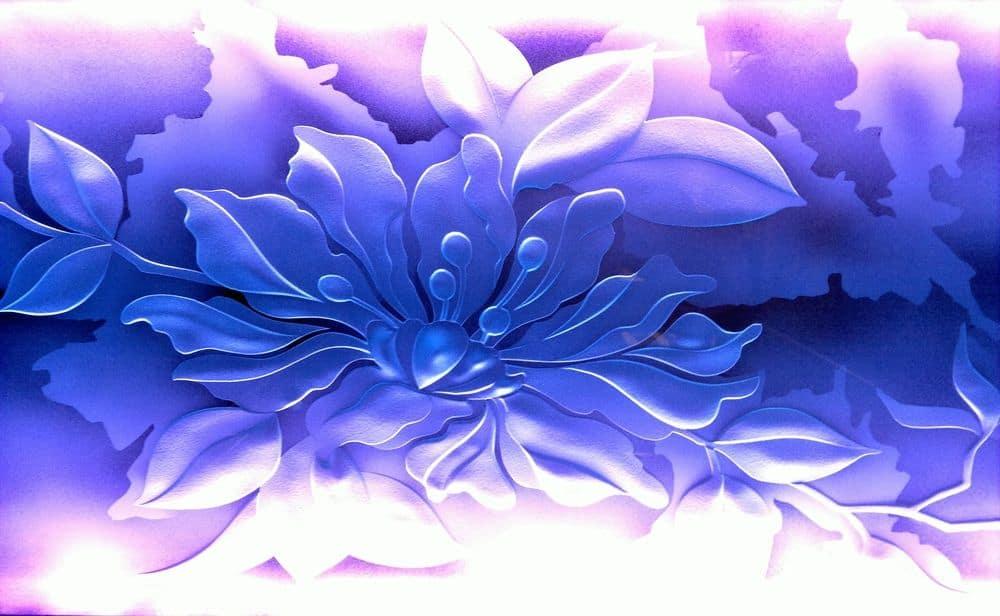 Led design flower glass